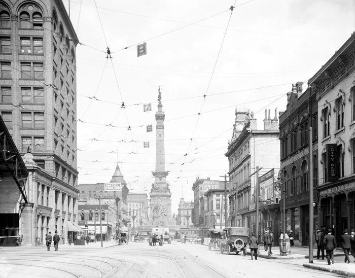 Indianapolis, Indiana, by Detroit Publishing, 1907.
