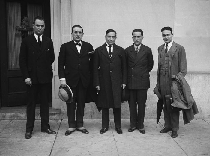 J. Edgar Hoover, at left, with staff by Harris & Ewing, 1926.