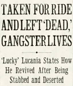 Luciono Survives Newspaper Clipping