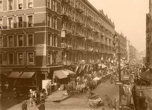 Lower East Side of New York City by the Detroit Publishing Co., 1909