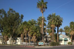 The old Palms Motel in Needles, California is now apartments, by Carol Highsmith.