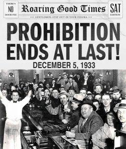 Prohibition Ends, 1933