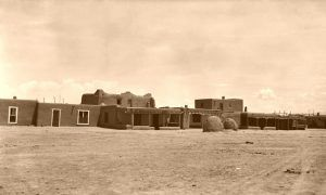 San Ildefonso Pueblo, New Mexico by Frederick D. Nichols, 1937.