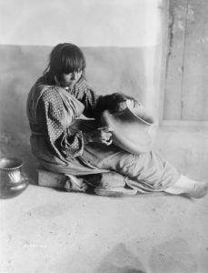 Santa Clara Pueblo potter by Edward S. Curtis, 1905.