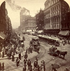 State Street in Chicago, Illinois by Underwood & Underwood, 1893