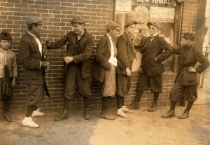 Young hoodlums in Springfield, Massachusetts by Lewis W. Hine, 1916