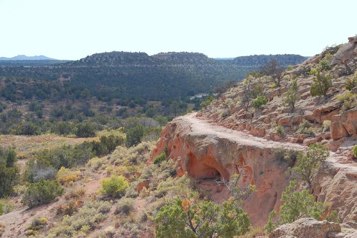 Tsankawi landscape in the upper portion of Bandalier National Monument, by Kathy Weiser-Alexander.