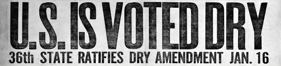 United States Voted Dry