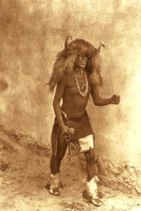 Zia Buffalo Dancer by Edward S. Curtis, 1925