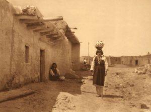Zia Pueblo Street Scene by Edward S. Curtis, 1924.