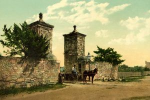 Old City Gate, St. Augustine, Florida, by the Detroit Photographic Co., 1898