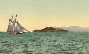Alcatraz and the Golden Gate, San Francisco, California by the Detroit Photographic Co., about 1900