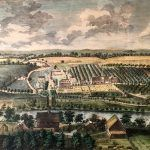 Colonial settlement of Bethlehem, Pennsylvania by Nicholas Garrison, Jr., 1754