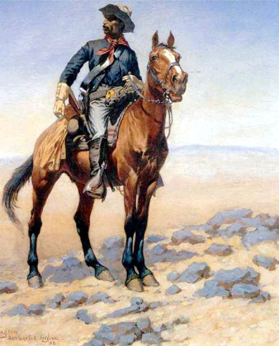 Buffalo Soldier by Frederic Remington