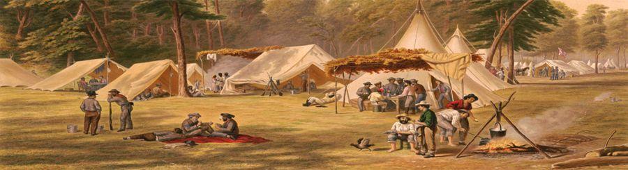 Confederate Camp by M & N Manhart, 1871.