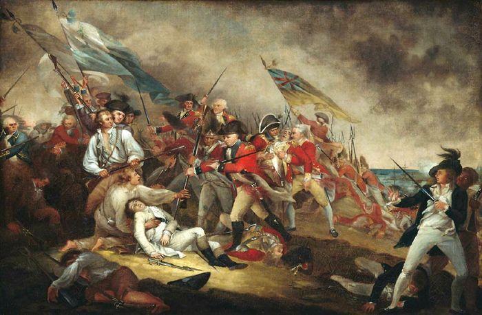 Battle of Bunker Hill during the American Revolution by John Trumbull