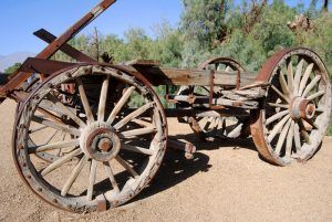 Wagon at the Death Valley Borax Museum by Kathy Weiser-Alexander.