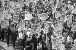 Demonstrators in Washington, D.C., March, 1963, by Marion S.Trikosko.