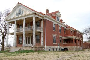 An old building in Ellsworth, Kansas by Kathy Weiser-Alexander.