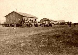 Ellsworth, Kansas Depot by Alexander Gardner, 1867.