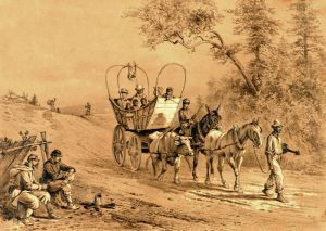 Escaped SlavesMoving to the Union Lines during the Civil War, by Edwin Forbes, 1876.