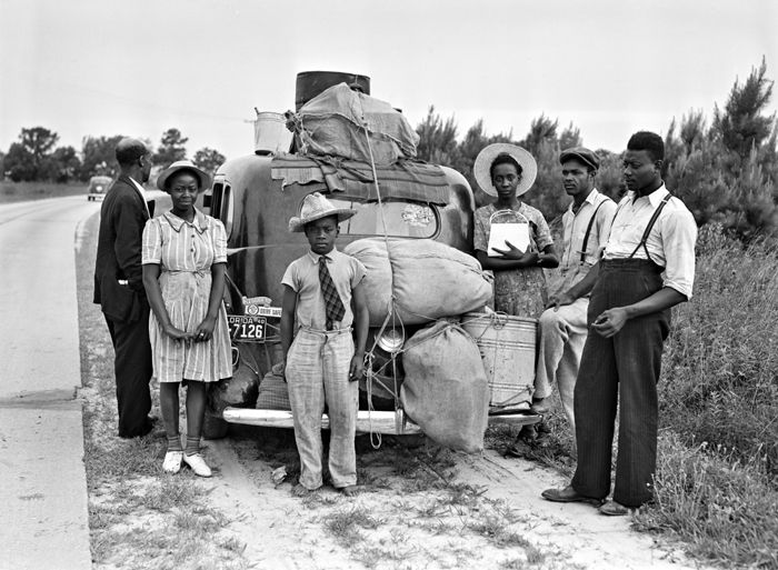 Florida Migrants on their way to New Jersey by Jack Delano, 1940.