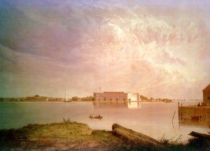 Fort Delaware, Delaware City, Delaware by Seth Eastman, 1870s.