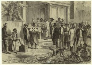 Freedmen voting in New Orleans, Louisiana, 1867.