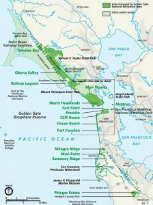 Golden Gate National Recreation Area Map, courtesy National Park Service
