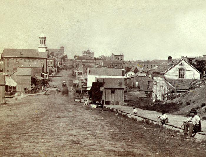Fifth Street in Leavenworth, Kansas by Alexander Gardner, 1867.
