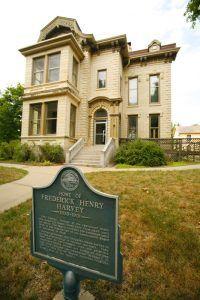 Home of Frederick Henry Harvey, Leavenworth, Kansas, courtesy Travel Kansas.