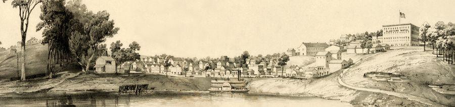 Leavenworth, Kansas by John Bachmann, 1856.