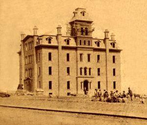 Public school in Leavenworth, Kansas by Alexander Gardner, 1867.