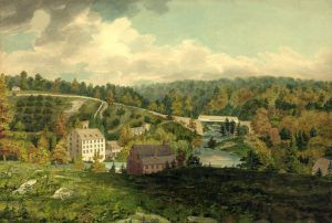 Mill on the Brandywine, Delaware,by John Rubens Smith, 1818