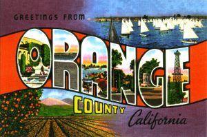 Orange County, California Postcard