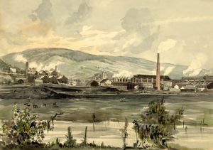 Pennsylvania Factory by James F. Queen, 1857.