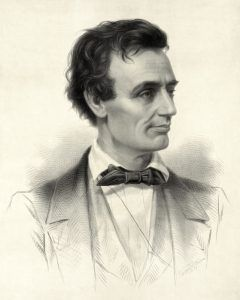 Presidential Candidate Abraham Lincoln by Thomas Hicks, 1860.