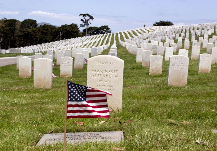 Presidio of San Francisco National Cemetery, by Carol Highsmith.