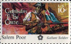 Salem Poor commemorative stamp, 1975