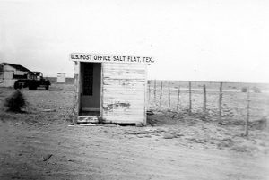 Post Office in Salt Flat, Texas.