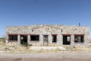 An old building west of Salt Flat, Texas by Carol Highsmith.
