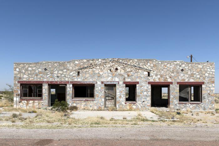 An old building west of Salt Flat, Texas by Carol Highsmith.