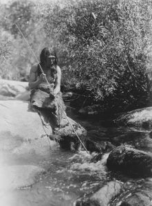 Miwok Man by Edward S. Curtis, 1924.