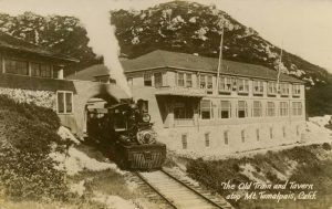 The Tavern of Tamalpais was the summit destination of the rail line. The Tavern had overnight accommodations, a restaurant, a post office and a dance pavilion, all a short walk from the peak of the mountain.