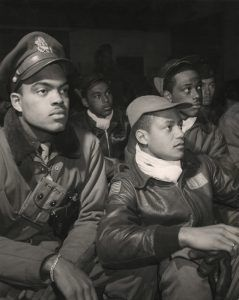 Tuskegee Airmen of the 332nd Fighter Group, United States Army Air Force, Toni Frissell, 1945.