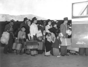 Evacuation of the Japanese from California during World War II.