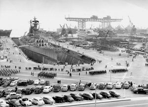 World War II era shipyard in San Francisco, California.