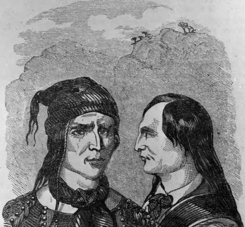 Drawing of Walkara and Brother from an 1855 book
