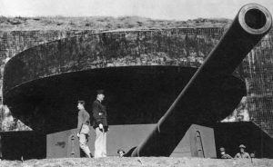 Battery Townsley at Fort Cronkhite, Calfironia, 1942.