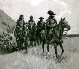 March of Gaspar de Portola, by W. Francis